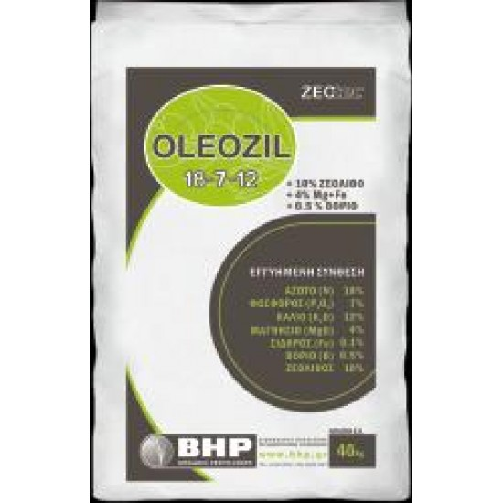 ΛΙΠΑΣΜΑ OLEOZIL 18-7-12+4Mg+0,5B+0,1Fe+ΖΕΟΛΙΘΟ (25kg)